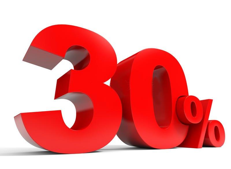 minus 30 %