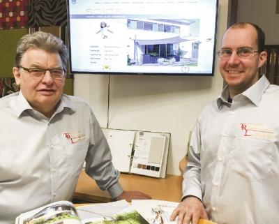 Johann Leithner (l.) übergibt die Unternehmensführung an Mitarbeiter Andreas Bucher